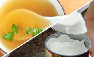 бульон и кокосовое молоко