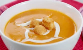 тыквенный суп с гренками
