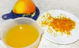 цедра апельсина и сок