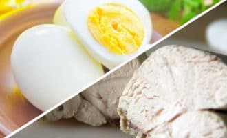 отварная курица и яйца