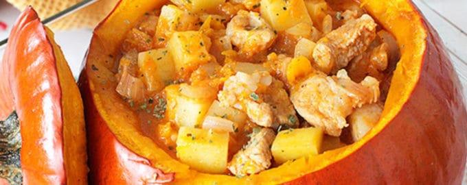 рецепт тыквы в духовке с мясом