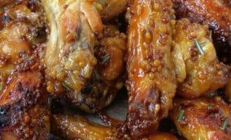 готовые куриные крылышки с горчицей