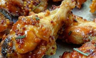 куриные крылышки с горчицей с зернами