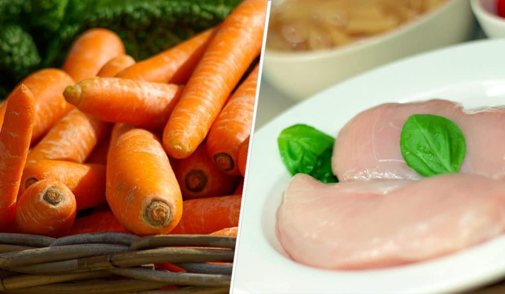 Морковь и курица