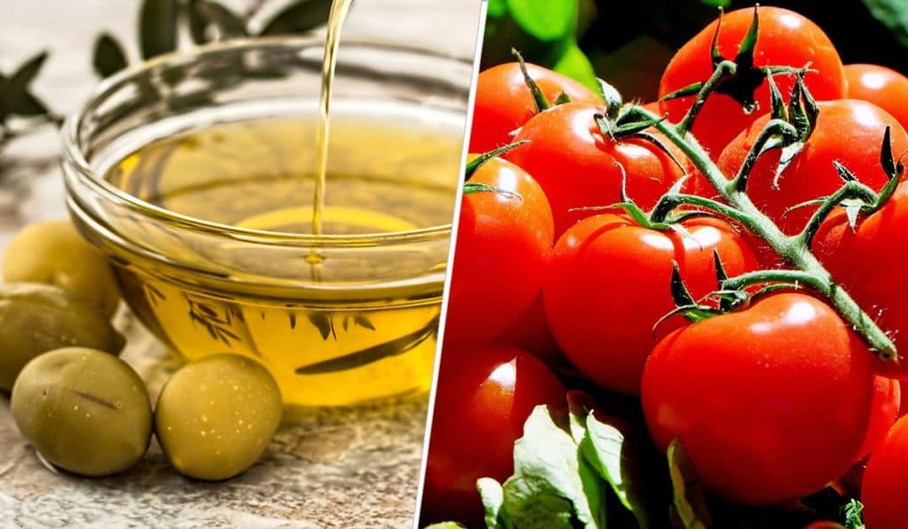 Помидор плюс оливковое масло