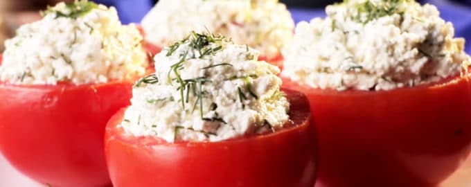 фаршированные помидоры с творогом рецепт