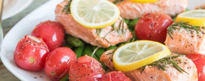 запеченный лосось с розмарином рецепт