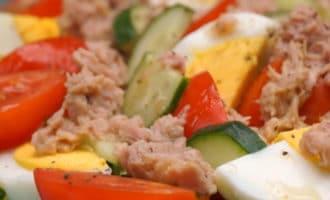 Легкий салат с тунцом без майонеза рецепт
