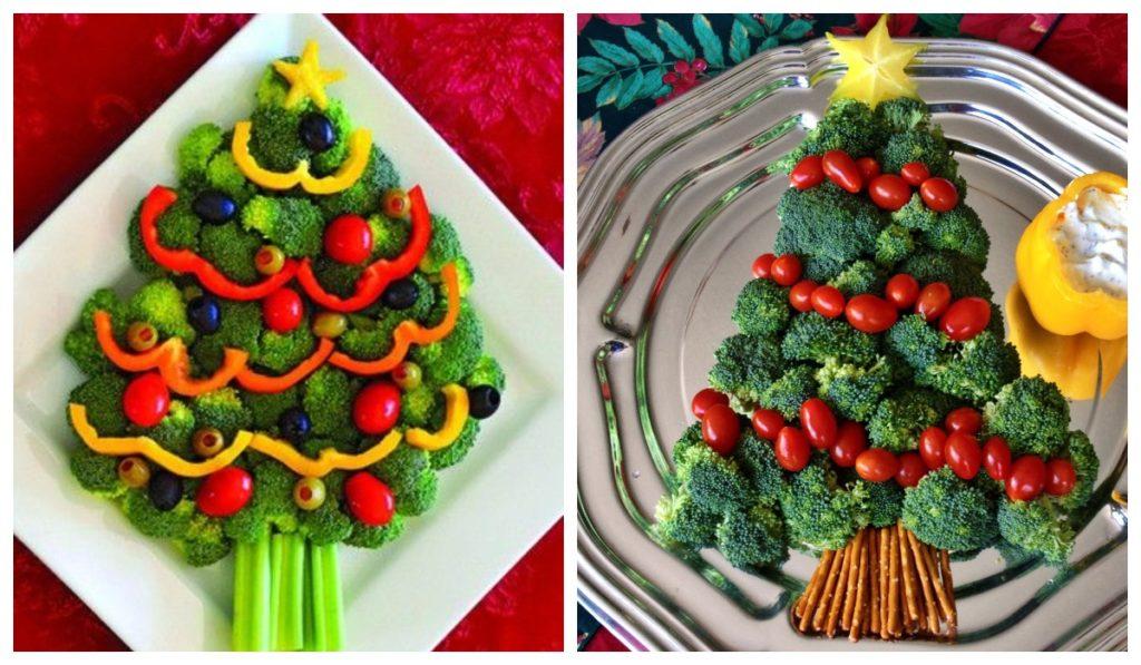 Оригинальная подача овощей на праздник