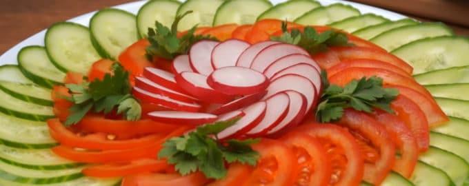 Овощная нарезка рецепт