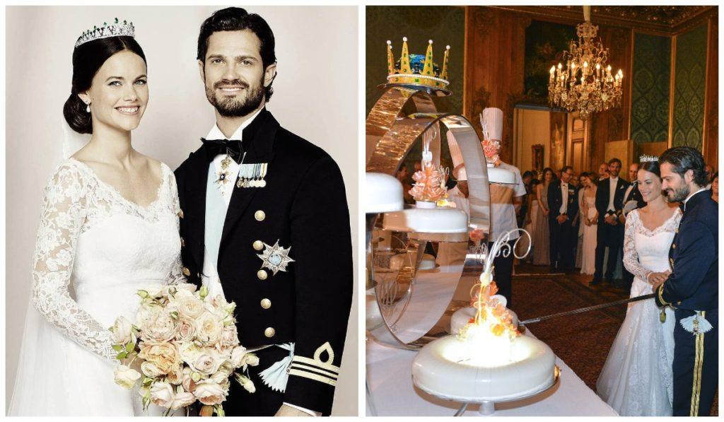 Свадебный торт принца Карла-Филиппа и Софии