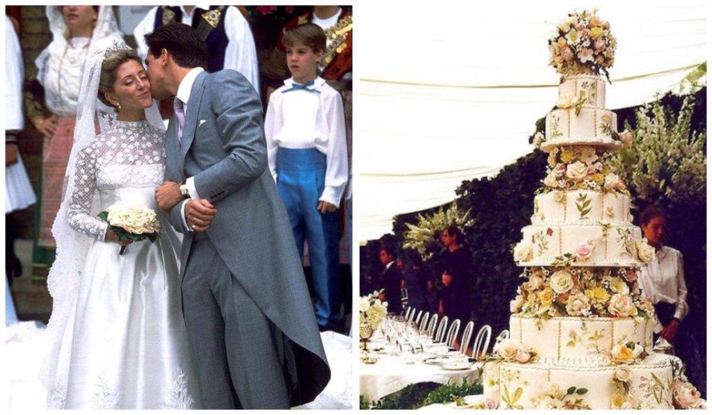 Свадебный торт принца Павлоса и Мари-Шанталь