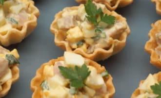 Тарталетки с печенью трески рецепт