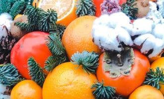 Новогодний букет из еды