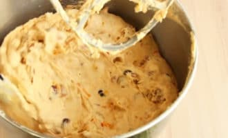 Яичная масса с сухофруктами и орехами