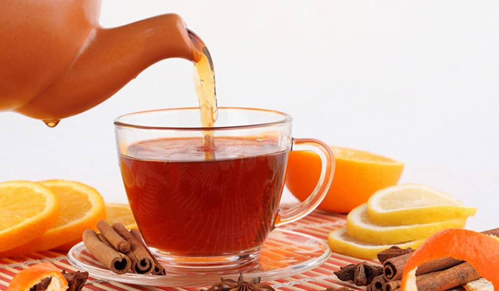 Чай с апельсиновой кожурой