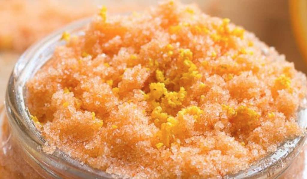 Домашний скраб для тела из апельсина