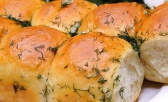 Пампушки с зеленью и чесноком рецепт