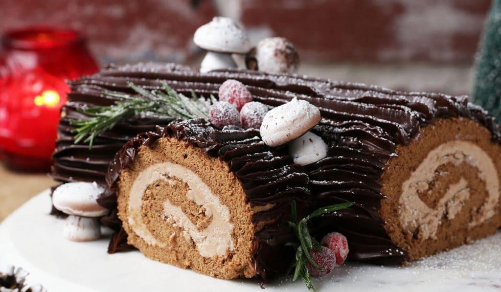 Рождественское полено десерт