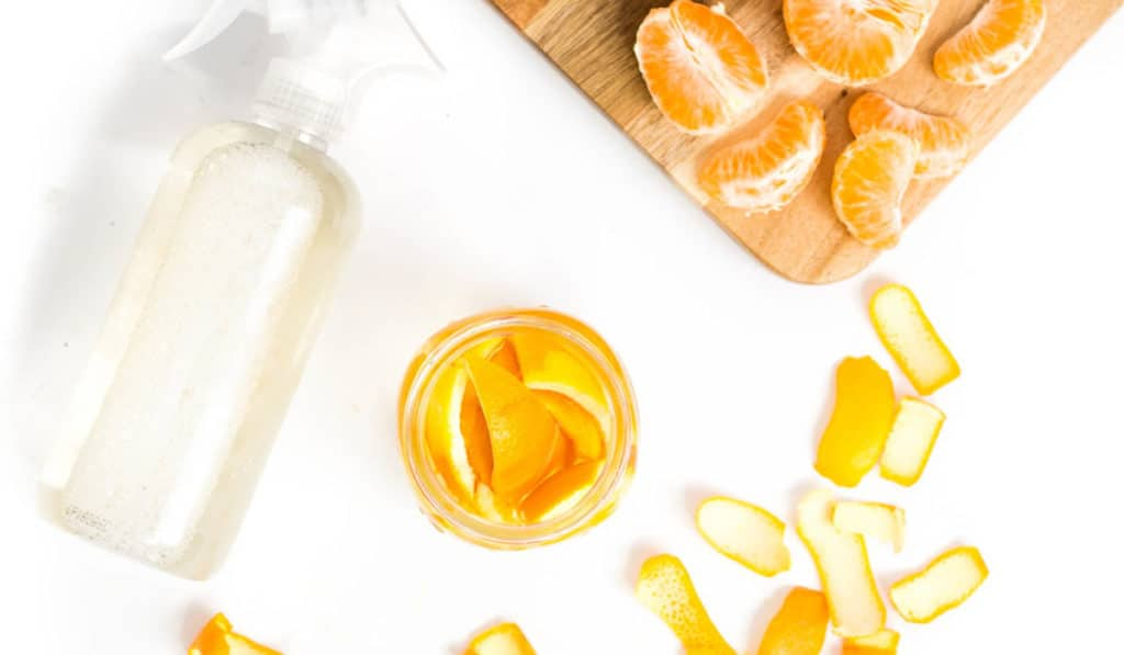 Спрей для уборки из апельсиновой кожуры