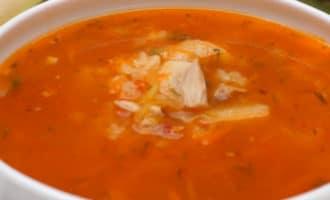 Томатный суп с рисом и курицей рецепт
