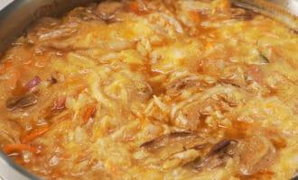приготовление капустницы с копченым мясом