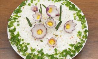готовый салат полянка с цветами