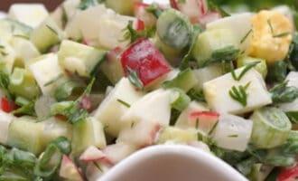 Салат из редиса Весенний рецепт