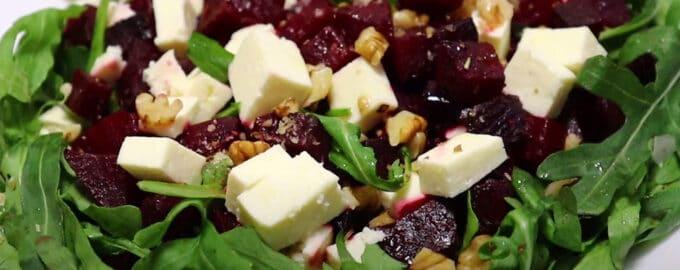 Салат с рукколой свеклой и сыром рецепт