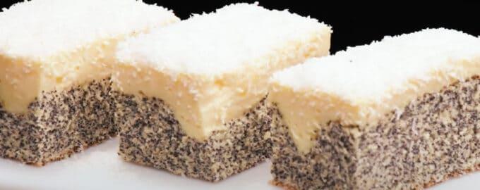 маковое пирожное с творожным кремом рецепт