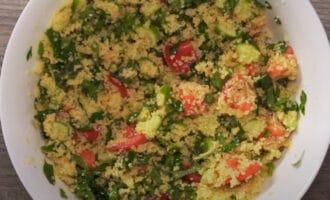Кускус с овощами и зеленью