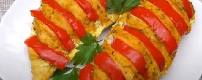 Запеченное куриное филе с перцем