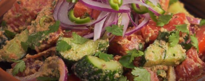 Грузинский салат из овощей