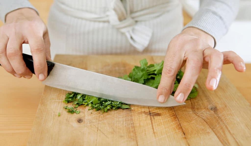 Вес кулинарного ножа
