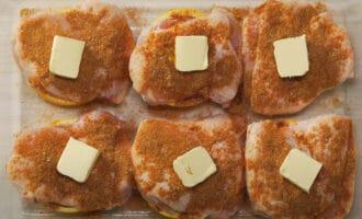 Курица со специями и сливочным маслом