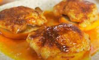 Курица на апельсинах