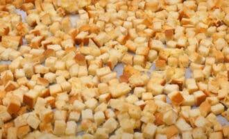 Закуска из батона с сыром