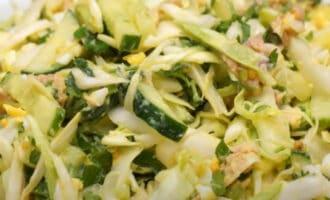 Салат с тунцом и капустой