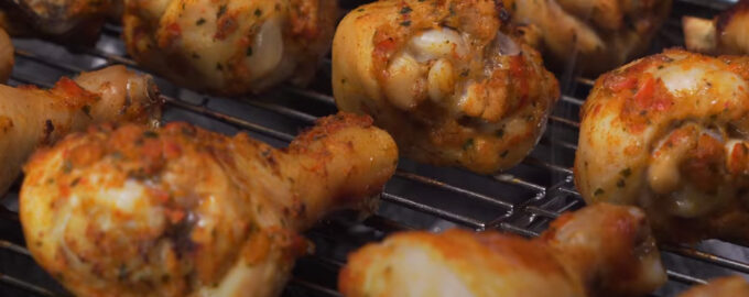 Куриный шашлык в овощном маринаде
