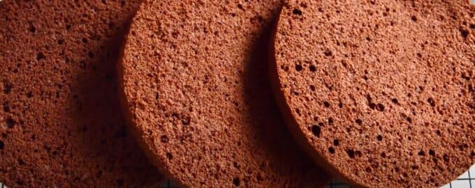 Бисквит с какао для торта